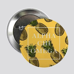 "Alpha Chi Omega Pineapples 2.25"" Button (10 pack)"