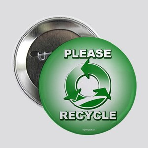 """Please Recycle 2.25"""" Button (10 pack)"""
