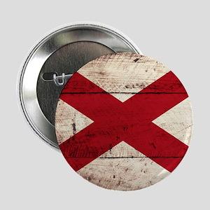 "Wooden Alabama Flag3 2.25"" Button (10 pack)"