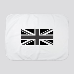 Union Jack - Black and White Baby Blanket