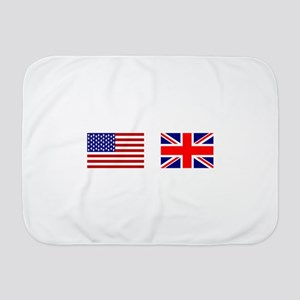 USA UK Flags for White Stuff Baby Blanket