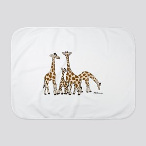Giraffe Family Portrait in Browns and Beige Baby B
