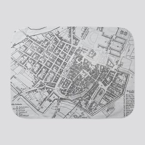 Vintage Map of Stuttgart Germany (179 Baby Blanket