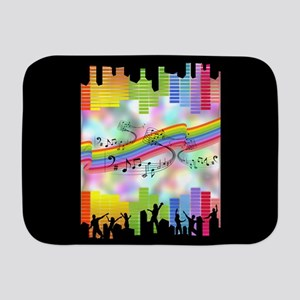 Colorful Musical Theme Baby Blanket
