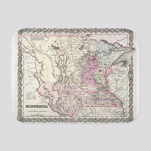 Vintage Map of Minnesota (1855) Baby Blanket