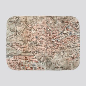 Vintage Map of Stuttgart Germany (190 Baby Blanket