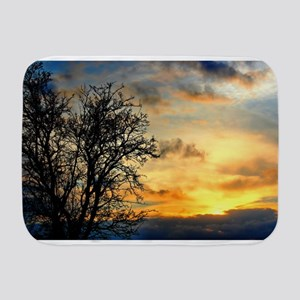 Tree Silhouettes at Sunset Baby Blanket