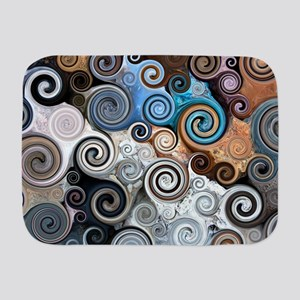 Abstract Rock Swirls Baby Blanket