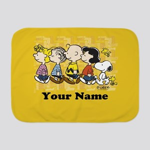 Peanuts Walking Personalized Baby Blanket