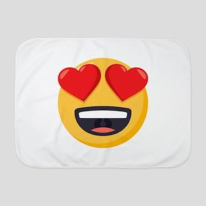 Heart Eyes Emoji Baby Blanket