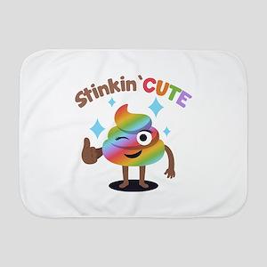 Emoji Rainbow Poop Stinkin' Cute Baby Blanket