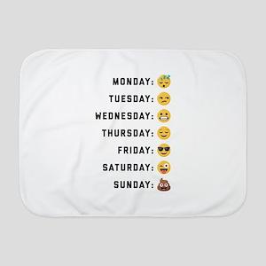 Emoji Days of the Week Baby Blanket