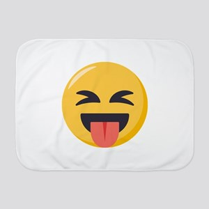 Face with stuck out tongue-Closed ey Baby Blanket