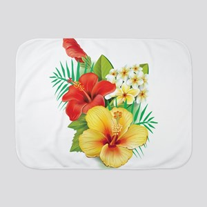 Tropical Hibiscus Baby Blanket