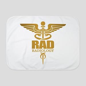 Radiology Gold Baby Blanket