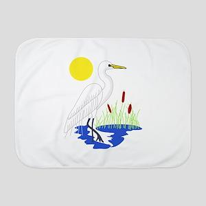 Egret Scene Baby Blanket