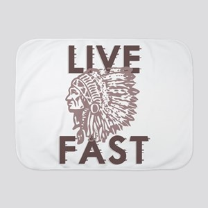 Live Fast Baby Blanket