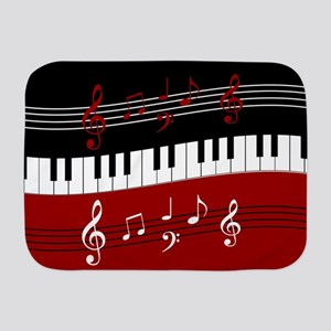 Stylish Piano keys and musical notes Baby Blanket
