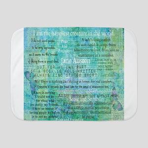 Jane Austen quotes Baby Blanket