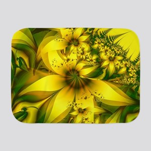 Beautiful Yellow-Green Meadow of Daff Baby Blanket