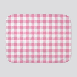 Pink Gingham Pattern Baby Blanket