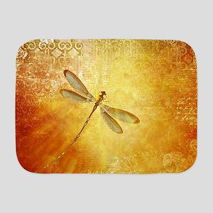 Golden dragonfly Baby Blanket