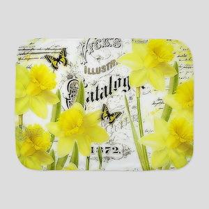 Vintage daffodils Baby Blanket