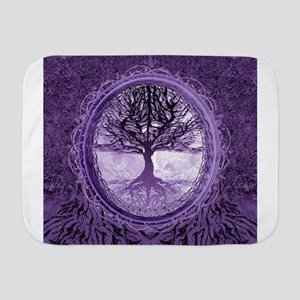 Tree of Life in Purple Baby Blanket