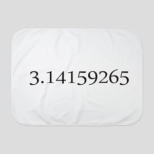 Number pi Baby Blanket