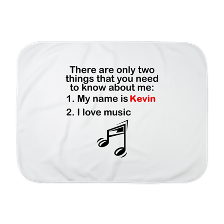 Two Things Music Baby Blanket