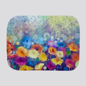 Floral Painting Burp Cloth