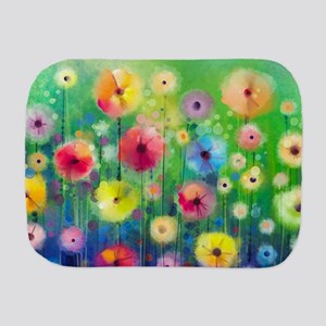 Watercolor Flowers Burp Cloth