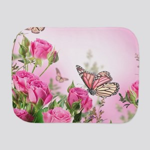 Butterfly Flowers Burp Cloth