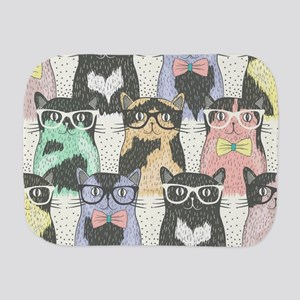 Hipster Cats Burp Cloth
