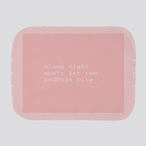 Bedbug Pink Burp Cloth