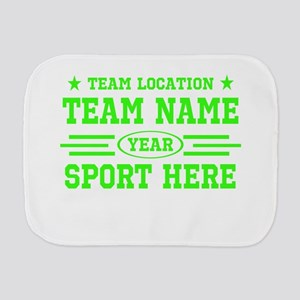 Personalized Your Team Your Text Burp Cloth