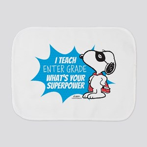 Snoopy Teacher - Personalized Burp Cloth