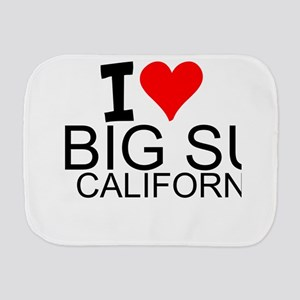I Love Big Sur, California Burp Cloth