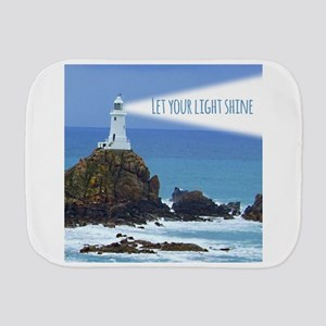 Let your Light Shine Burp Cloth