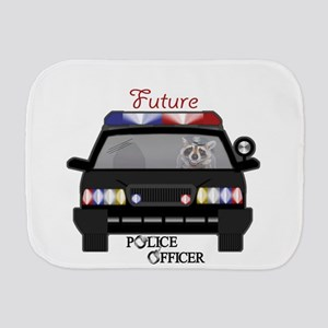Future Police Officer Burp Cloth