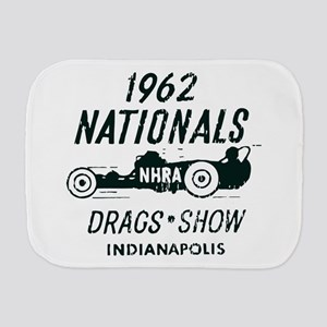 Drags Racing Indianapolis 1962 Burp Cloth