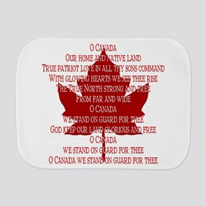 Canada Anthem Souvenir Burp Cloth