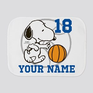 Snoopy Basketball - Personalized Burp Cloth
