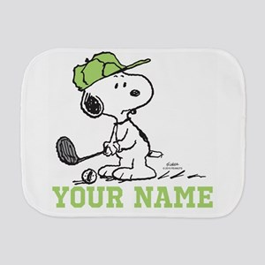 Snoopy Golf - Personalized Burp Cloth