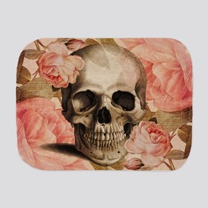 Vintage Rosa Skull Collage Burp Cloth