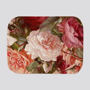 Floral Pink Roses Burp Cloth