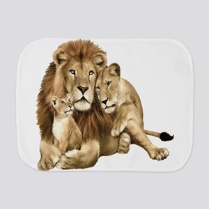 Lion And Cubs Burp Cloth