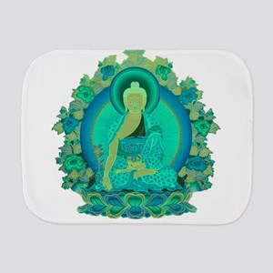 Teal psychedelic Buddha Burp Cloth