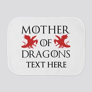 Mother of Dragons Personalizd Burp Cloth