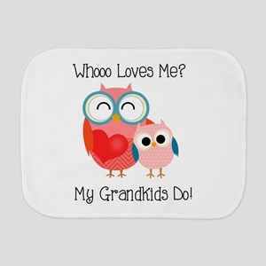 Owl Grandkids Burp Cloth